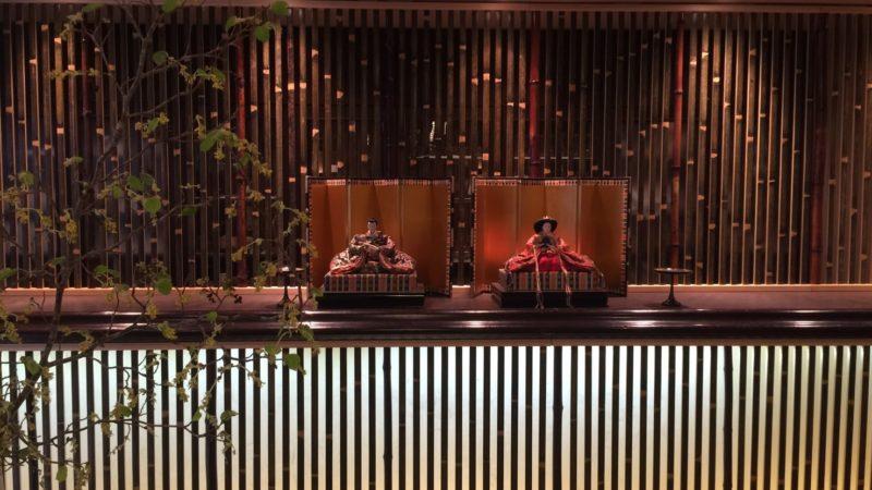 和モダンな竹のスクリーン