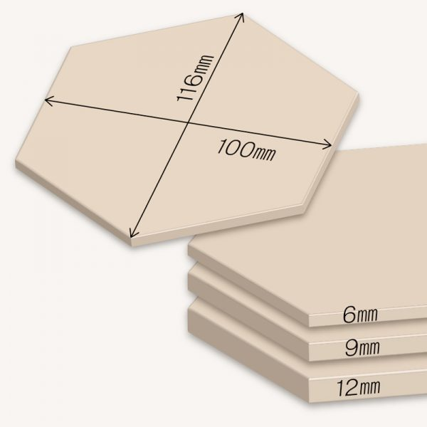 WoodTile Hexa ウッドタイル:ヘキサ【ヒノキ】図