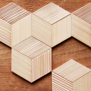 WoodTile Hexa ウッドタイル:ヘキサ【スギうづくり】
