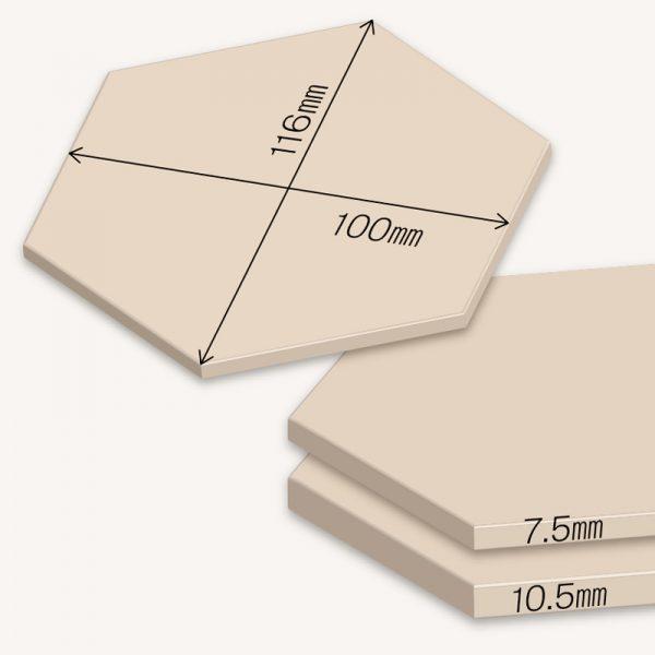 WoodTile Hexa ウッドタイル:ヘキサ【スギうづくり】図